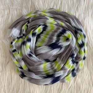 Scarf - Navy, White, Gray, Neon